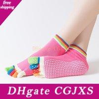 Wholesale finger gym for sale - Group buy 14 Colors Women Yoga Toes Socks Gym Dance Sport Exercise Five Fingers Socks Pilates Cotton Sox Breathable Anti Slip Toe Socks