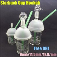 Wholesale starbucks cup oil rig resale online - Glass Water Sandblasted Bongs Cup Bongs Nail Glass Rigs Smoking Oil And For Hookah1pcs Starbucks Glass Pipes dayupshop kEXRH