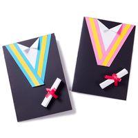 Wholesale handmade graduation cards for sale - Group buy Handmade Graduation Dress Card DIY Craft Material Kindergarten Educational Tool Wedding Birthday Graduation Cards Invitations