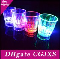 Wholesale bamboo shoots for sale - Group buy Halloween Christmas cm Led Cup Flashing Shot Plastic Glasses Flashing Cup Led Shot Cup Flash Small Mug