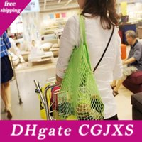 Wholesale fashion shoppers for sale - Group buy Mesh Net Cotton Shoulder Bag Fruit Vegetables Grocery Shopping Bag Fashion String Shopper Tote Woven Hand Totes Home Storage Bag Bc Bh0635