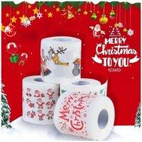 Wholesale Eonpin Christmas Bath Paper Christmas Printed Home Santa Claus Christma Supplies Xmas Decor Tissue M Toilet Paper