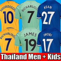 Wholesale top thailand quality soccer uniforms for sale - Group buy Top thailand quality soccer jerseys JAMES home away rd blue Football top soccer kits men kids sets uniform