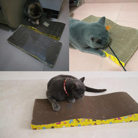 Wholesale post boards for sale - Group buy Kitten Nail Grinding Papasgix Toys Cat Corrugated Scratch Posts Mat Scratching Scraper Cats Board Paper Pad Pad Cat Mattress KWzSx