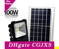 Wholesale outdoor led lights china resale online - Outdoor Solar Led Flood Lights w w w lm Lamps Waterproof Ip65 Lighting Floodlight Battery Panel Power Remote Contorller China L