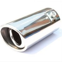 Wholesale car exhaust parts resale online - Vehicle Chrome Exhaust Pipe Tip Car Auto Muffler Steel Stainless Trim Tail Tube Auto Replacement Parts Exhaust Systems Mufflers