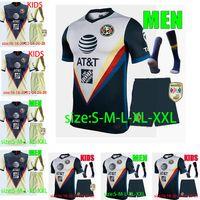 Wholesale custom socks for sale - Group buy 2020 LIGA MX Kids socks Club America Soccer Jerseys C DOMINGUEZ R JIMENEZ R SAMBUEZA O PERALTA Custom Youth Boys Camiseta de futebol