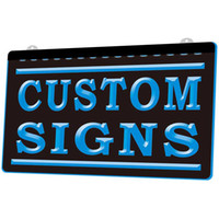 LS0002 Custom Your Signs 3D Engraving LED Light Sign Wholesale Retail