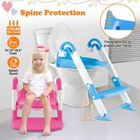 Wholesale potty training resale online - New stylish Kids Potty Training Seat with Step Stool Ladder for Child Toddler Toilet Chair A Jphz