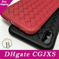 Wholesale imitation mobile phones for sale – best For Iphone Xr Xs Max Braided Phone Case Selling Tpu Luxury Striae Imitation Leather Phone Cover For Iphone X Mobile Cellphone Case