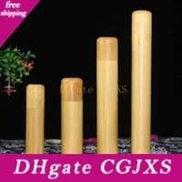Wholesale jewelry tubes for sale - Group buy New Arrived Hot Sealed Tea Barrel Container Cylinder Portable Bamboo Tube Tea Pot Caddy Fast Shipping