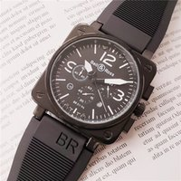 Wholesale swiss army watch men resale online - Swiss brand army watches for men stainless steel case rubber strap men br watch quartz movement chronograph watch all dial work watches