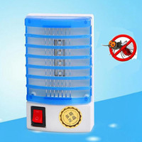 armadilhas da mosca venda por atacado-220V Home LED prático Bug Elétrica Mosquito Repelente Fly Insect Killer Night Trap Lamp Zapper Mini Rodent Repeller Pest Control DHA969