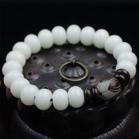 Wholesale jade buddha gifts for sale - Group buy White Bodhi Jade root gift men and women couple clear girlfriends simple Buddha beads stationery beads bracelet bracelet ObR0r