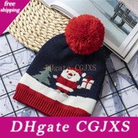 Wholesale boys caps for kids resale online - Baby Winter Christmas Hat Knitted Newborn Photography Props Hats For Children Warm Boys Girl Cap Kids Hat Baby Fotografie Knit Cap Dhl A05