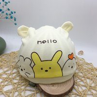 Wholesale newborn baby boy sun hats for sale - Group buy Newborn summer tire cotton thin tire cap for boys and girls new cartoon cute sun hat newborn baby sleeping cap NUFFu