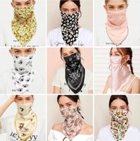 Wholesale silk scarve for sale - Group buy Masks Butterfly Flower Printed Ribbon Scarve Printing Sunscreen Ice Silk Mask Multi Color Washable Gauze Mask Dustpoof Mouth Cover EWD729