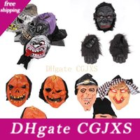 Wholesale devil face for halloween resale online - Halloween Pumpkin Skull Mask Scary Ghost Clown Witch Mask Halloween Cosplay Party Horror Scary Devil Masks