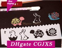 Wholesale kids drawing templates for sale - Group buy Cartoon Hollow Theme Flower Template Ruler Photo Album Drawing Tool Diy Photo Album Mold Drawing Template Hand Painting Tools Kids Gifts