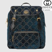 Wholesale gg button resale online - lei52452 FU3B Small GG velvet backpack WOMEN HANDBAGS ICONIC BAGS TOP HANDLES SHOULDER BAGS TOTES CROSS BODY BAG CLUTCHES EVENING
