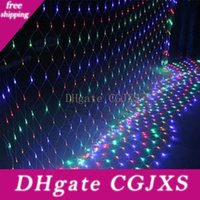 Wholesale christmas lights outdoor nets for sale - Group buy Eco Friendly Led Lights Outdoor Warm White Blue Multicolor Lawn Fishing Net Lights Christmas Festival Wedding Party Decoration Mfd44