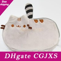 Wholesale phone favor resale online - 18 cm Plush Purse Cat Stuffed Coin Purse Zipper Anime Mobile Phone Bag Xmas Birthday Party Favor Gifts In Stock Wx9