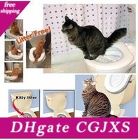 Wholesale litter boxes for sale - Group buy Drop Shipping Retail Box Citi Kitty Pet Toilet Trainer Puppy Cat Toilet Litter Trainer Cat Training Kit
