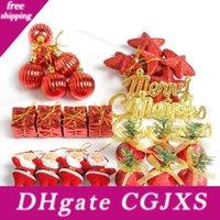 Wholesale design for christmas balls for sale - Group buy New Design Christmas Tree Decor Hanging Pendant Santa Claus Christmas Balls Stars Bells Gift Box For Home Xmas Decor
