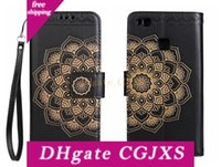 Wholesale court cases online – custom Flip Cover For Huawei P9 Lite Case Luxury Leather Pu Wallet Court Classical Flower For Huawei P9 Lite Case Flip Cover