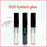 Wholesale new makeup brushes for sale - Group buy 2020 Duo arrival Eyelash Adhesives Eye Lash Glue brush on Adhesives vitamins white clear black g New Packaging Makeup Tool