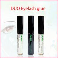 Wholesale eyes lashes glue resale online - 2020 Duo arrival Eyelash Adhesives Eye Lash Glue brush on Adhesives vitamins white clear black g New Packaging Makeup Tool