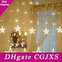 Wholesale indoor outdoor led christmas lights resale online - Christmas Decorations String Light For Home Led Indoor Outdoor Icicle Star String Lights For Party Wedding Decor Fairy Lights Curtain Lamps