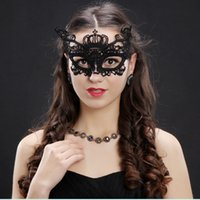 Wholesale designer short sexy lace dresses for sale - Group buy Fashion Halloween Lace Exquisite Masquerade Party Half Face Mask Dress Woman Lady Sexy Masks for Christmas