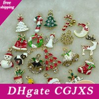 Wholesale mixed charm set resale online - Metal Alloy Mix Christmas Sets Charm For Holiday Decoration Christmas Decoration Supplies Christmas Decoration