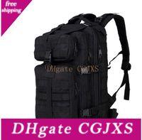 Wholesale trek backpack resale online - Big Size l Hiking Camping Military Tactical Backpack Camouflage Army Black Rucksacks Camping Hiking Trekking Bag