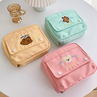 Wholesale diary pouches for sale - Group buy Cute Cake Bear Big Size Pencil Pouch cm DIY A6 A7 Diary Planner Collection Bag Pencil Case Gift