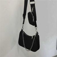 Wholesale crossbody vintage bag resale online - new shoulder bags handbags High quality Crossbody bag Heart shaped decoration Tarpaulin Nylon bag Shopping Bag