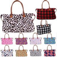 Wholesale large black designer handbags for sale - Group buy 33 style Buffalo Check handbag Red Black White Plaid Bags Large Capacity travel Tote With PU Handle storage Maternity bag EWA866
