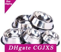 Wholesale small steel bowl for sale - Group buy Stainless Steel Dog Powl Pet Bowl Food Water Feeder For Cats And Small Dogs Home Outdoor