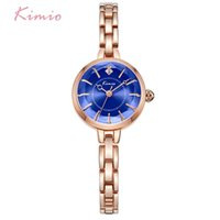 Wholesale pin rose dress for sale - Group buy Kimio Brand Women Bracelet Watches New Ladies Crystal Multi faceted Dial Luxury Dress Wrist Watch Clock Rose Gold Relogio X0926
