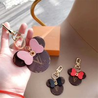 Wholesale key holder ring big for sale - Group buy Fashion Women Keychain Big Ear Keyring Cute PU Key Chain Bag Charm Boutique Car Key Holder Mouse Design Key Ring Accessories Colors Gifts