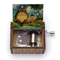 Wholesale totoro box resale online - My Neighbor Totoro hand cranked music box tonari no totoro Music Box Musical Gift For Christmas Valentine s day Birthday