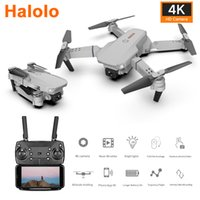 Wholesale best mini drones resale online - Halolo E88 Best Quadrocopter Mini Drone With K Camera Profesional HD Foldable Camera Drones Altitude Hold Children ChristmsToy
