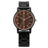 Wholesale mens wooden watches resale online - High Quality Men s Watch Antique Nature Wood Mens Quartz Analog Wristwatch Bamboo Watches Nature Wooden Bracelet Band Gift