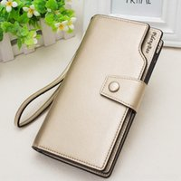 Wholesale korea phone holder online – custom New women s long Phone wallet candy color Korea holder Japan and South multi card large capacity zippermobile phone bag card bag MLyUw