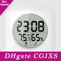 Wholesale white digital wall clock for sale - Group buy Fashion White Lcd New Waterproof Shower Bathroom Wall Clock Temperature Thermometer Hygrometer Meter Gauge Monitor Humidity Fast