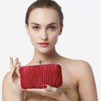 Wholesale mini elegant clutch bags for sale - Group buy Designer New fashion Elegant fold handbag wedding dresses MINI evening bags bridal silk day clutches one chain Shoulder Bags colors