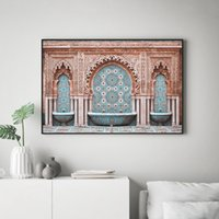Wholesale modern photography prints for sale - Group buy Morocco Arch Poster Canvas Print Modern Photography Wall Art Painting Oriental Boho Chic Wall Picture for Living Room Home Decor