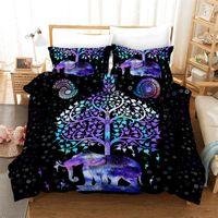 Wholesale 3d elephant bedding set resale online - Wishstar Bohemia Ethnic Elephant Black Bed Linen Duvet Cover Single Double Size Bedding Set For Kids D Animal Bedcloth