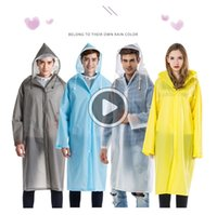 herren-regenmantel  groihandel-Raincoat für Herren und Frauen s Outdoor-Fasion Adult ackpack Eva Transparent Raincoat Shelly